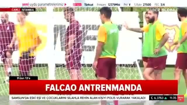 Falcao antrenmanda oyuna girer girmez 2 gol atıyor